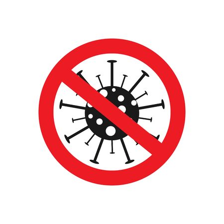 Stop coronavirus. Corona virus icon. Novel epidemic. Sign of caution coronavirus and protection. Stop and quarantine banner. Warning infection. Иллюстрация