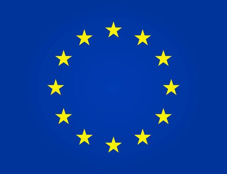 European flag. EU stars in circle. Euro union, Europe parliament. Yellow stars on blue background is symbol of Europa. Patriot of western. Texture of nation, state, study, tourism in eurozone. Vector.
