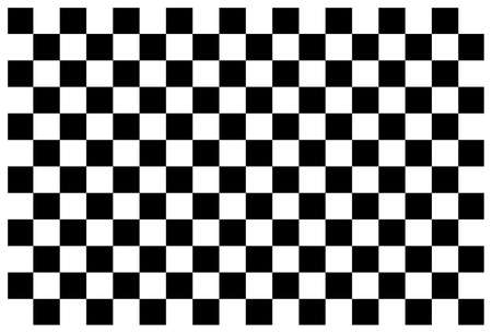 Checkerboard. Black and white background for checker and chess. Square pattern with grid. Checkered floor, board and table. Flag for race, start and finish. Graphic rectangle for games. Vector.