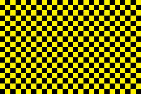 Taxi pattern. Black-yellow checkerboard. Background of taxi in New York. Cab for city. Vintage checkered wallpaper for car and race. Decoration from Nyc or Manhattan. Symbol of transportation. Vector. Ilustrace