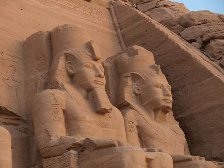 The Abu-Simbel temples in Egypt Stock Photo