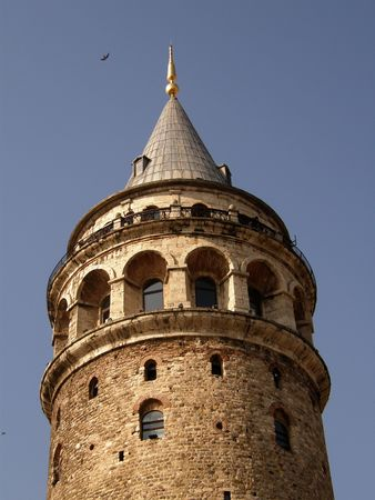 The Galata tower in Istambul Stock Photo