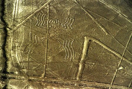 The Nazca lines: spider Stock Photo
