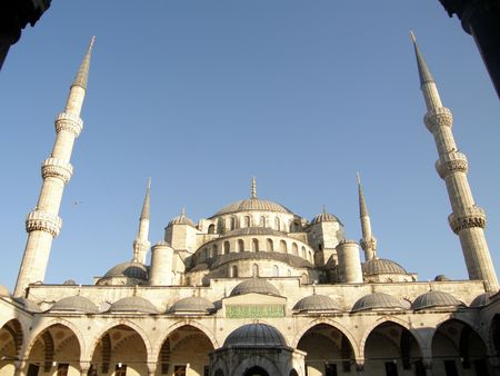 The blue mosque in Istambul Stock Photo