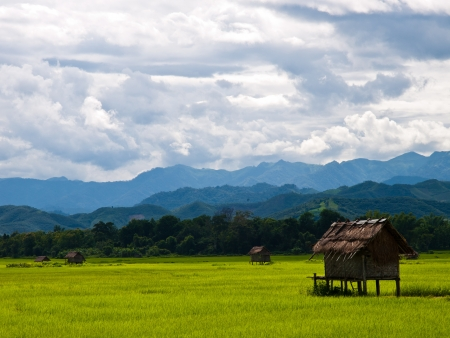 Laos countryside Stock Photo