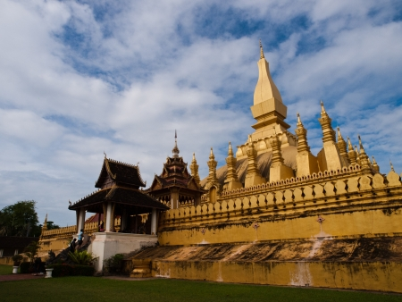 Bhuddist Temple in Laos Stock Photo