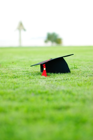 gorros de graduacion: Graduaci�n Foto de archivo