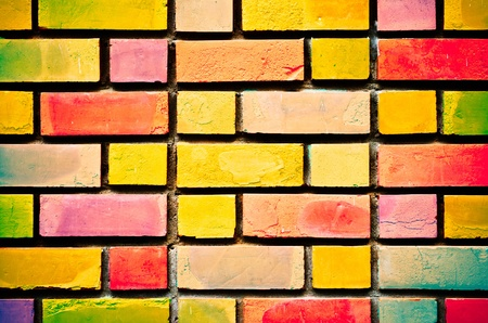 Colorful wall - texture Stock Photo - 9674385