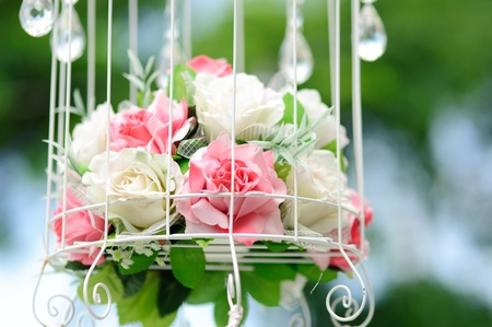 Flower on wedding day and celebrate Stock Photo