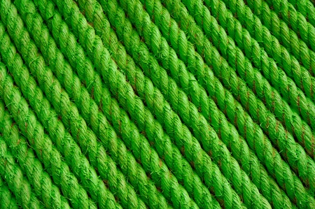 Background texture green stucture wall rope