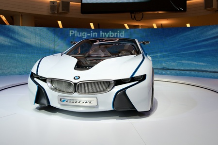 BANGKOK, THAILAND-SEPTEMBER, 23: The BMW Vision EfficientDynamics on BMW XPO 2011 at Siam Paragon, SEPTEMBER 23, 2011 in Bangkok Thailand Editorial