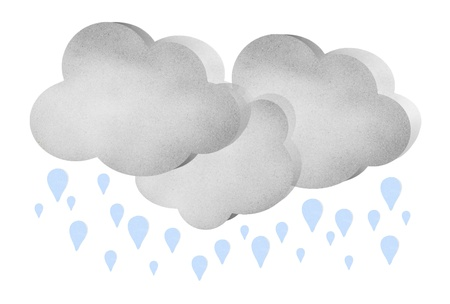 Cloud weather story season by cork board Stock Photo