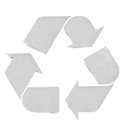 Recycle logo paper craft by cork board