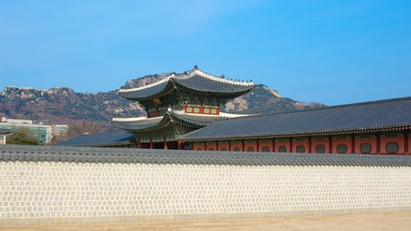 kyongbok palace korea beautiful landscape Stock Photo - 12877957