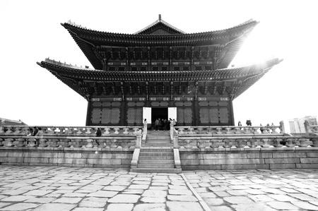 Black-White kyongbok palace korea beautiful landscape
