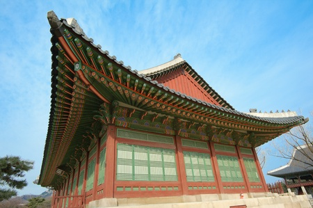 kyongbok palace korea beautiful landscape Editorial