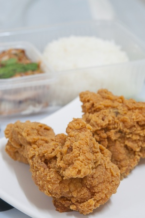 Golden brown fried chicken food photo