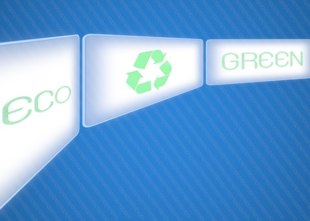 Business pointing screen recycle logo eco green photo