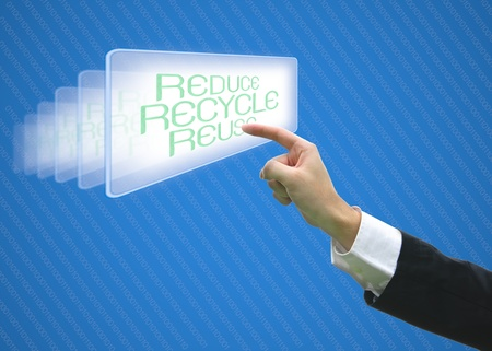 Business pointing screen recycle reuse reduce photo