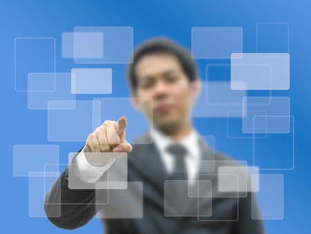 bussiness man: Bussiness man concept hand pointing Stock Photo