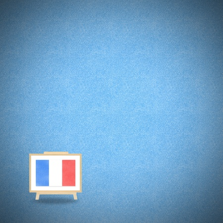 Flag france on blue cork background photo