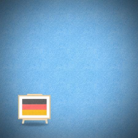 Flag germany on blue cork background Stock Photo - 13500824