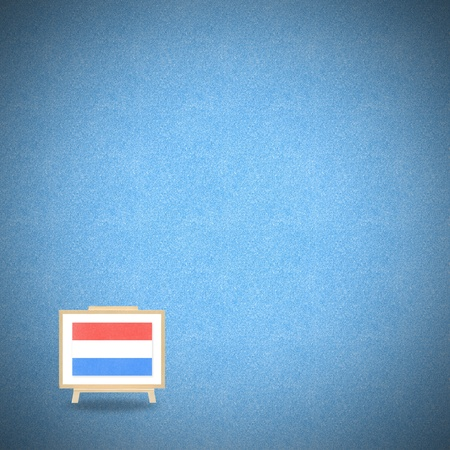 Flag netherlands on blue cork background Stock Photo - 13501201