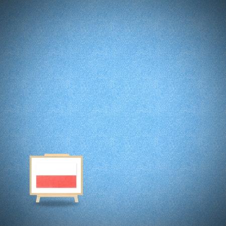 Flag poland on blue cork background photo