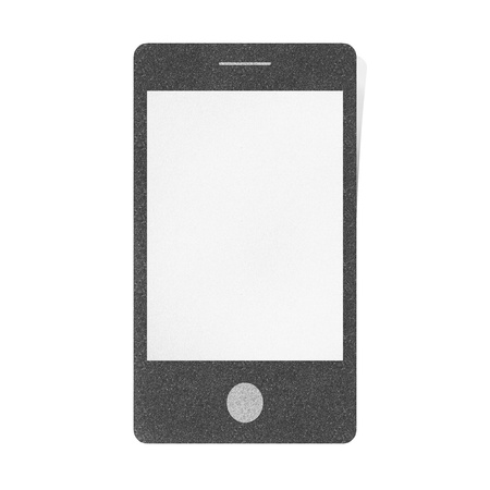 Mobile phone smartphone blank craft by cork board on isolate