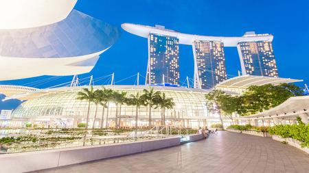 Singapore, Singapore - May 7, 2014: Marina bay sand, a luxury hotel located in Marina Bay. Singapore. Editorial