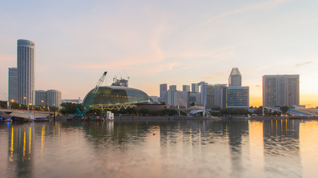 Singapore, Singapore - May 7, 2014: Esplanade, Urban building located in Marina Bay. Singapore. Editorial