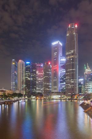 Singapore, Singapore - May 10, 2014: Clarke quay, top view from the bridge. Singapore.