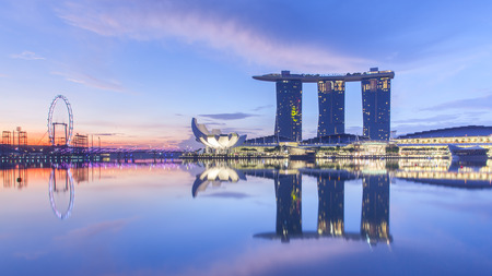 A luxury hotel located in Marina Bay, Singapore.