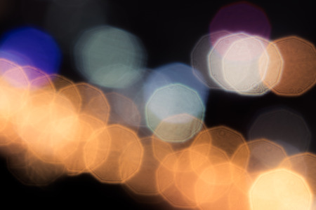 Bokeh with black background