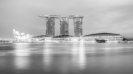 A luxury hotel located in Marina Bay. Singapore.