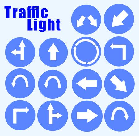 instruct: Traffic light instruction Illustration