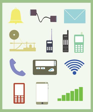 communication evolution Illustration