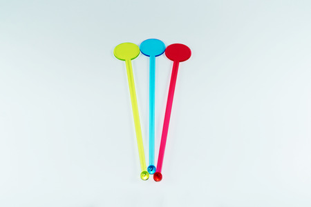 the mixing: Colorful drink mixing sticks
