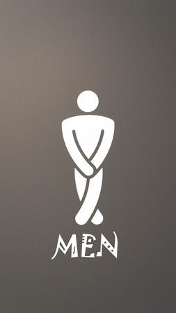 iconos: Hombre s�mbolo de tocador  Foto de archivo