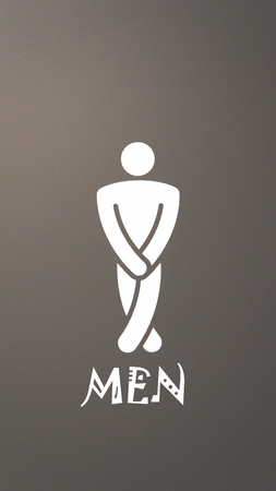 bathroom sign: Male toilet symbol