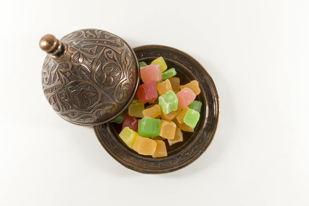 delight: Turkish delight sugar bowl.