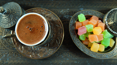 turkish coffee: Turkish coffee Turkish delight sugar bowl