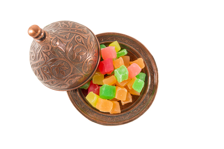 turkish delight: Color delights Sugarbowl Ottoman Turkish delight Stock Photo