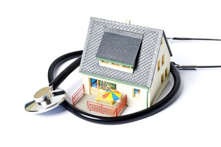 house with med tool Stock Photo
