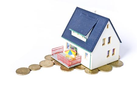 house made by money Stock Photo