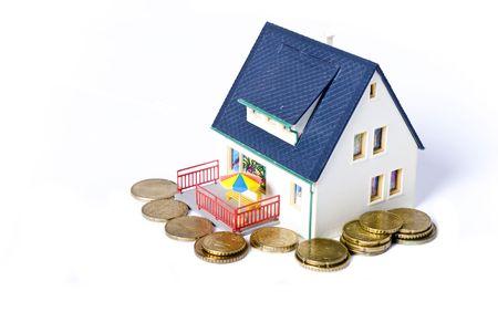 house on money Stock Photo