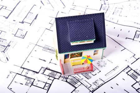 house on plans Stock Photo - 7068808