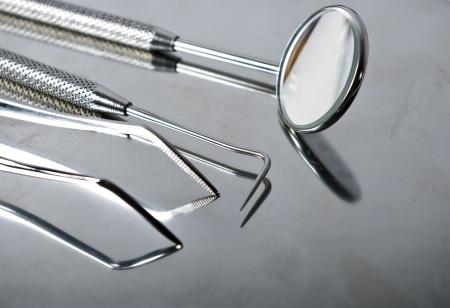 big close-up of dental tools