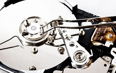 hard drive with some gear photo