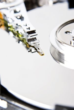 external hard disk drive: big close-up of hard drive Stock Photo